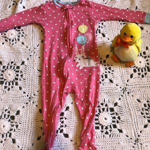 Bunny zip up pajamas